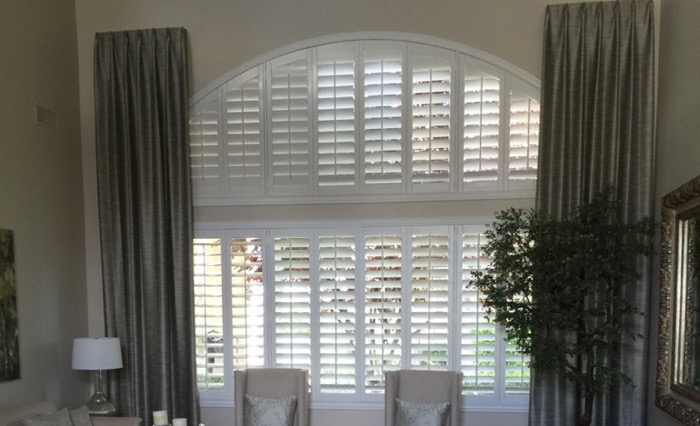 Tampa drapes and shutters.