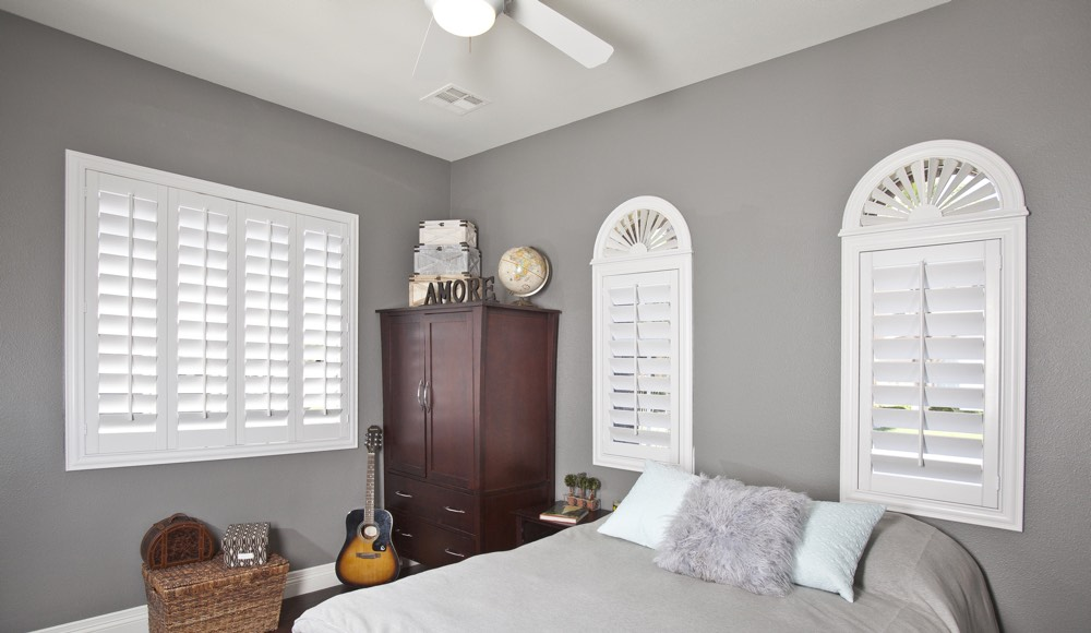 Polywood Shutters In A Tampa Bedroom