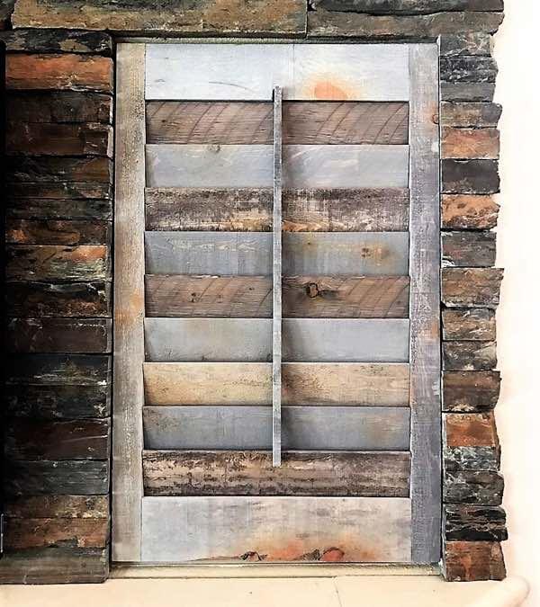 Tampa recycled wood shutter