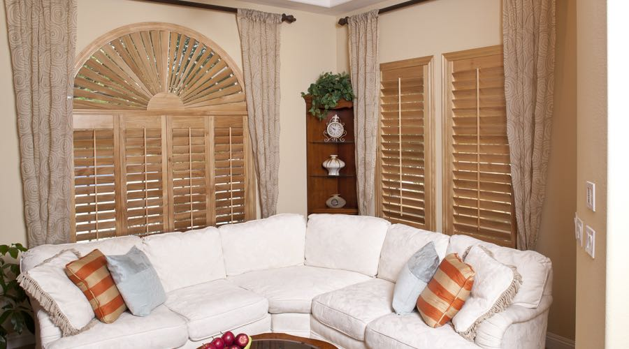 Ovation Wood Shutters In Tampa Living Room