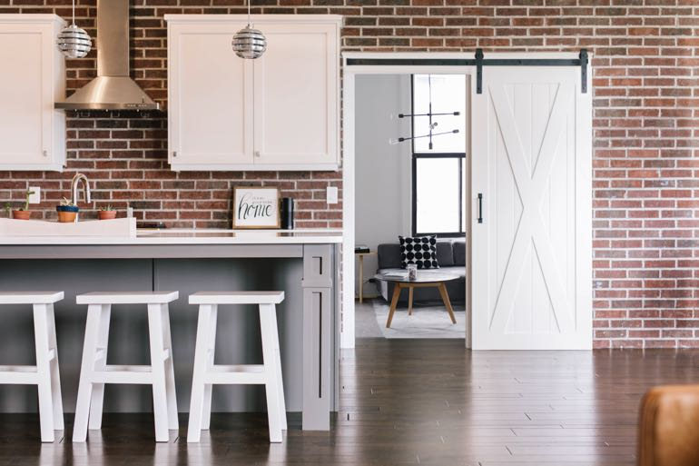 Tampa modern kitchen barn door