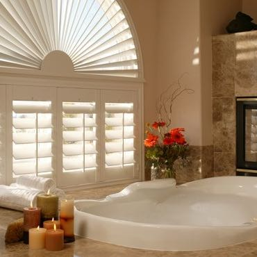 Tampa bathroom privacy shutters.