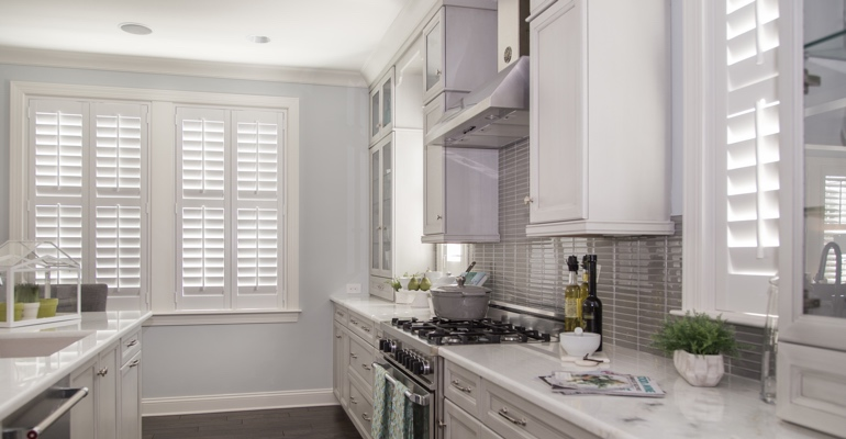 Tampa kitchen white shutters