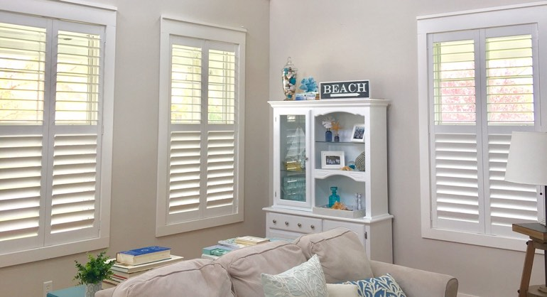 Tampa FL shutters in living room