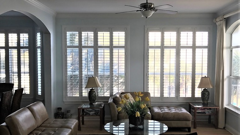 Tampa family room shutters
