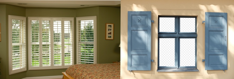 Tampa FL exterior and interior shutters
