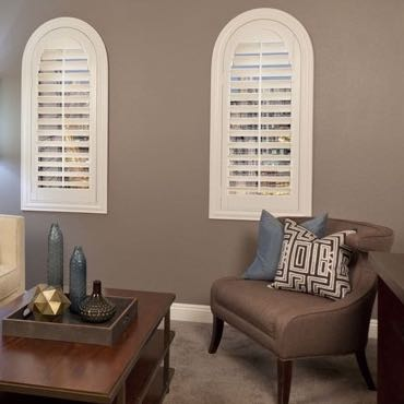 Tampa family room interior shutters.