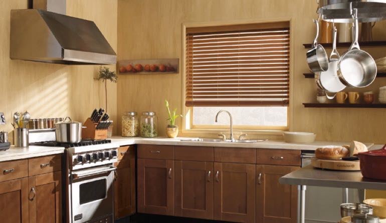 FL faux wood blinds kitchen