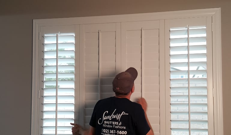 Installation of plantation shutters in Tampa