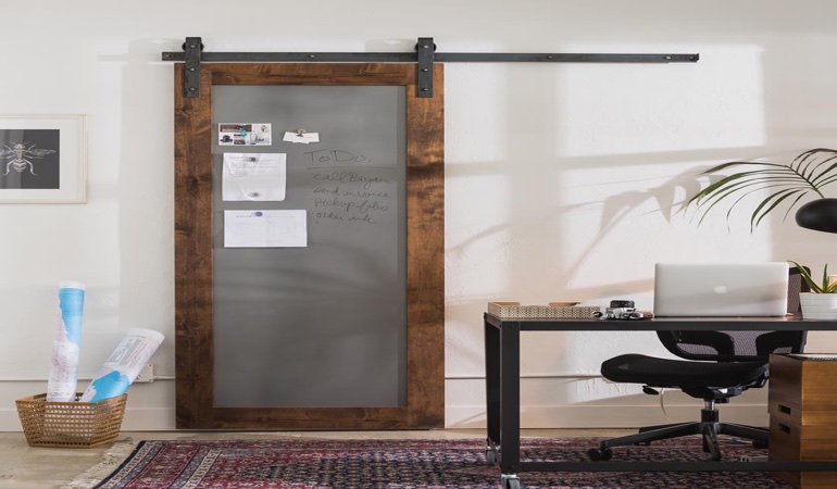 Tampa home office barn door