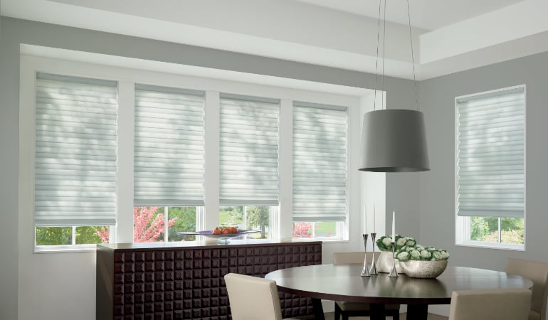 Cellular shades in a Tampa dining room.