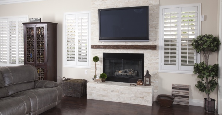 white shutters in Tampa family room