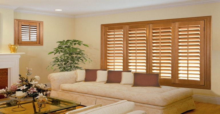 wood shutters Tampa parlor