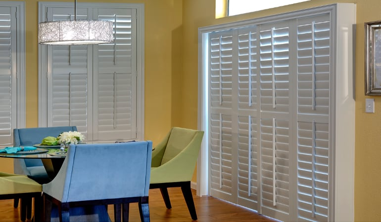 Patio Doors with Plantation Shutters in Tampa