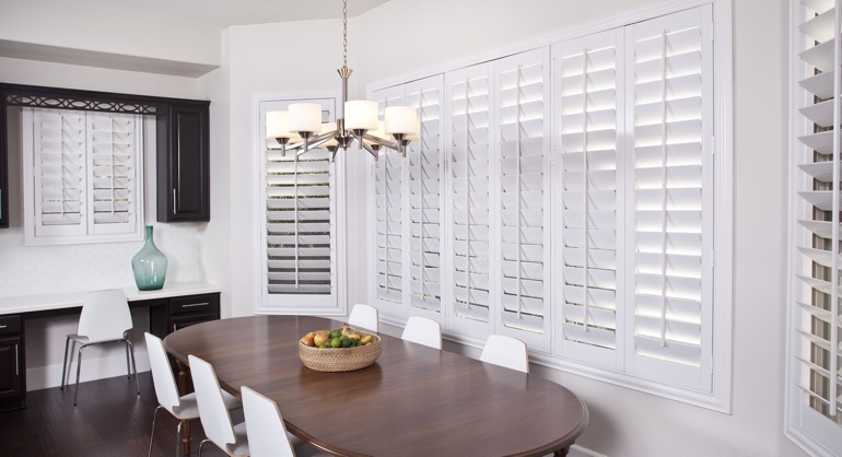 Faux Wood Shutters Are Your Kitchen Windows Perfect Match