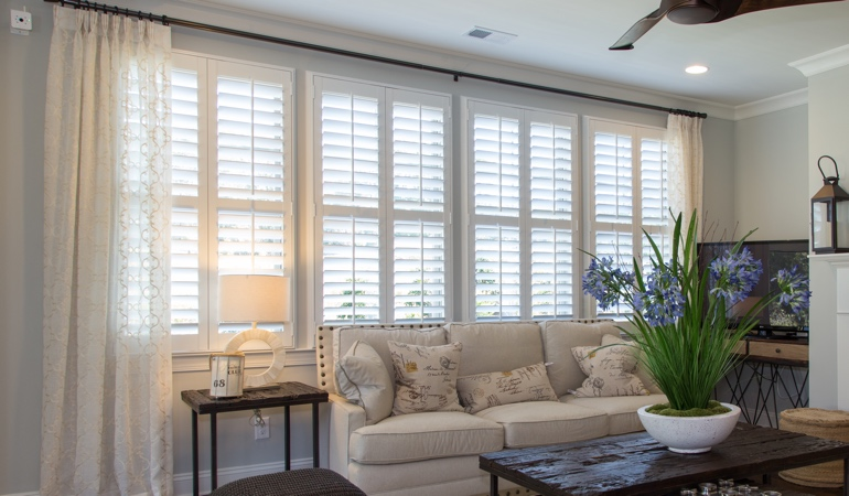 Plantation Shutters in Tampa Living Room