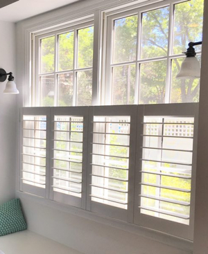 Tampa faux wood cafe shutters