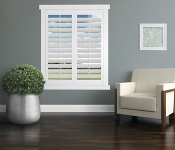 Polywood Shutters in Tampa living room