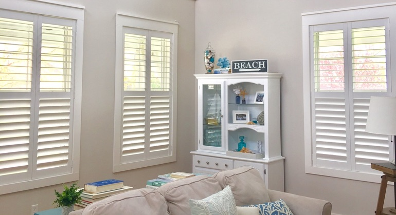 white shutters in Tampa living room