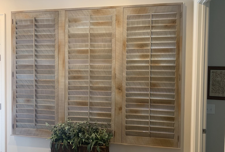Closed reclaimed wood shutters in Tampa