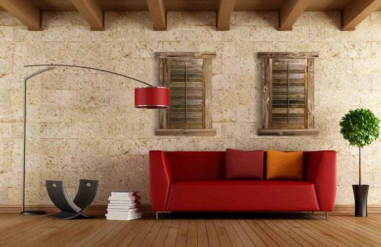 Reclaimed Wood Shutters In A Tampa Living Room. - Reclaimed Wood Shutters For Sale Sunburst Shutters Tampa, FL