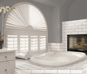 Shutters in Tampa bathroom