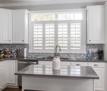 Shutters in Tampa kitchen