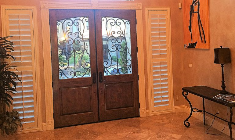 Tampa foyer door with shutters