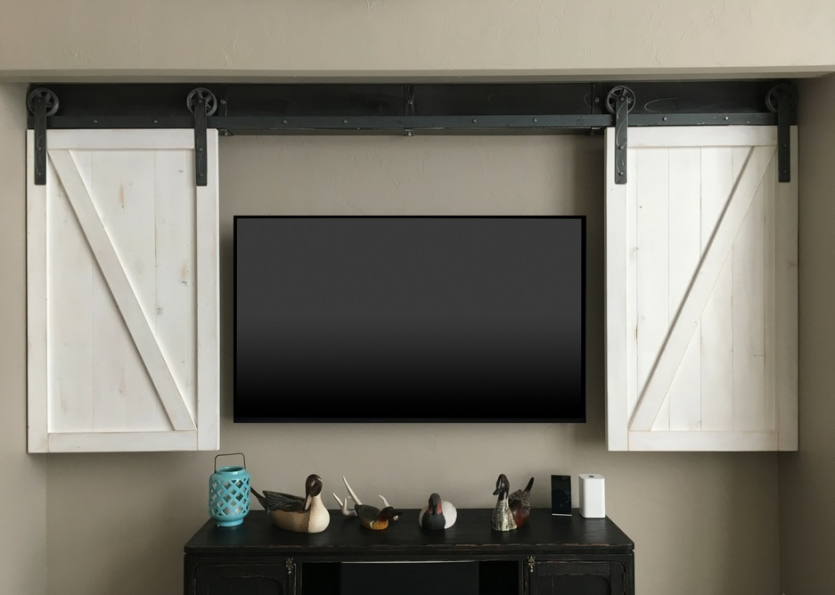 Tampa tv shutter barn door