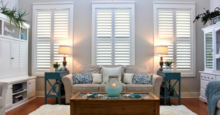 Tampa lounge indoor shutters