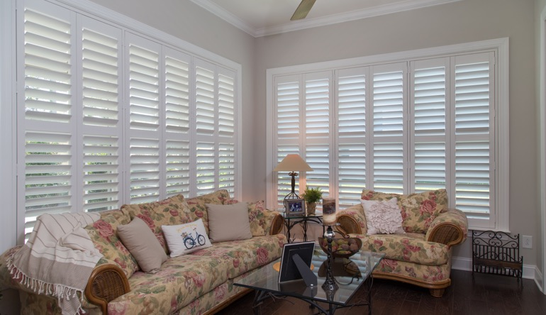 Tampa sunroom indoor shutters