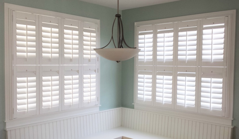 Tampa plantation shutters in booth