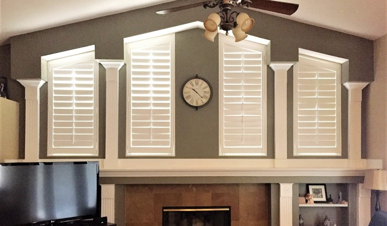 Polywood Shutters in Family Room in Tampa