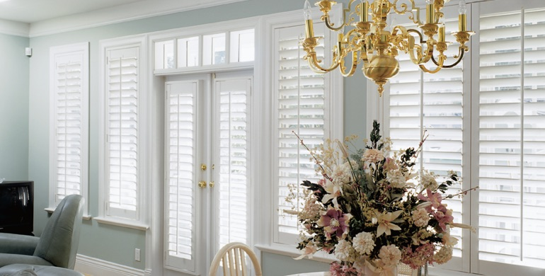 Tampa sunroom polywood shutters