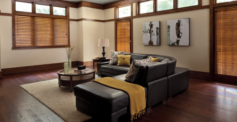 Tampa hardwood floor and blinds