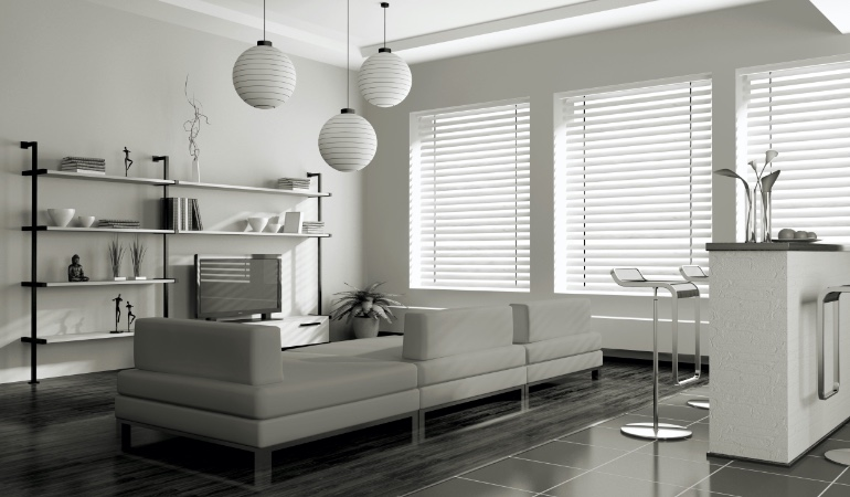 white blinds in Tampa