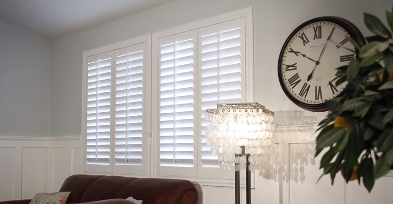Tampa living room interior shutters