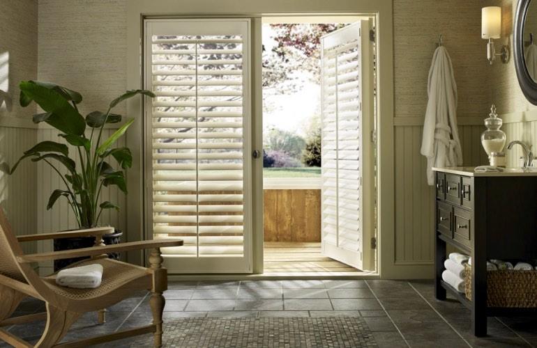 french door shutters in tampa sunburst shutters tampa fl