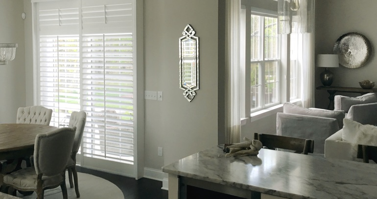 Tampa kitchen sliding glass door shutters