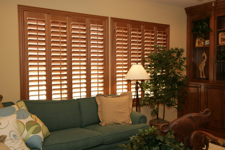 Ovation Shutters In A Tampa Living Room.