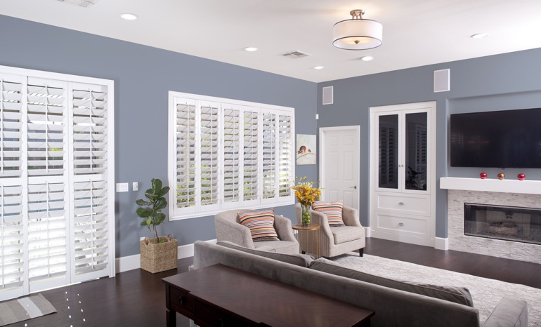 Plantation Shutters In A Tampa Living Room.
