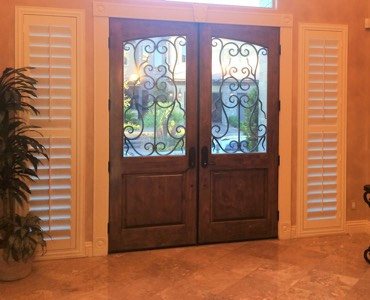 Tampa sidelight window treatment shutter