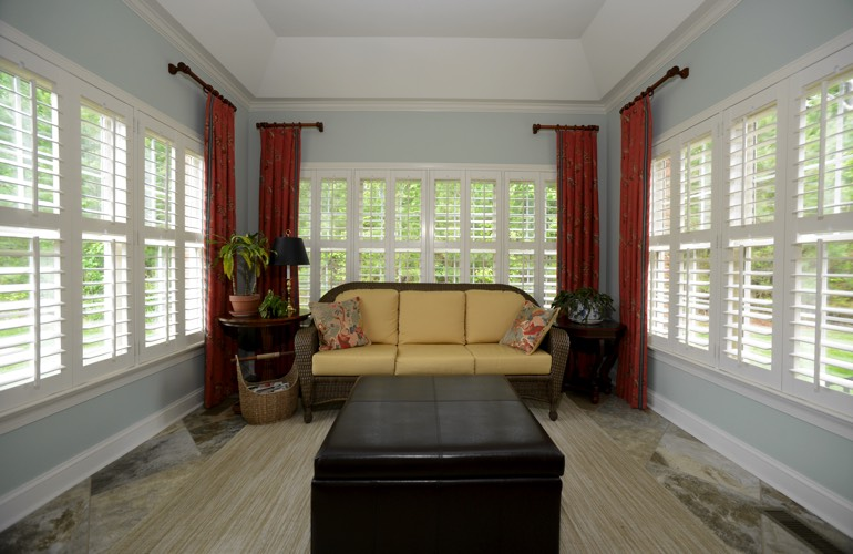 Plantation Shutters In A Tampa Sunroom